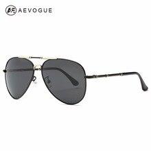 AEVOGUE Polarized Sunglasses Men Original Brand Designer Copper Frame Polaroid Coating The Inside Lens With Box UV400 AE0371