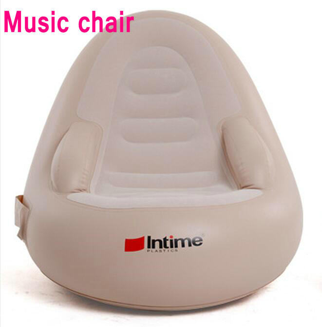 Flocking pvc inflatable massage chair folding nap dual-use recliner, Music radio chair,inflated air bean bag sofa массажный шарф nap massage wrap