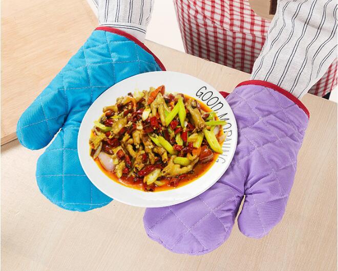 1PC Cotton Oven Glove Heatproof Mitten Kitchen Cooking Microwave Mitt Non-slip Thickening NX 037