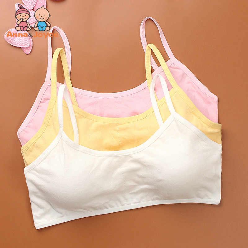 0eee7be93fb99 Girls Bra 1pc Girl Bra Sport Cotton Soild Kids Underwear For Teenagers  Young Girls Small Wireless