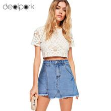 2b74eda1bec ANSELF Sexy Summer short jeans Women Denim Ripped Shorts Pantskirt Skorts  Pockets