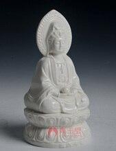 Dai Yutang Dehua porcelain home decoration statue Avalokiteshvara/7-inch double-sided Yin D21-05