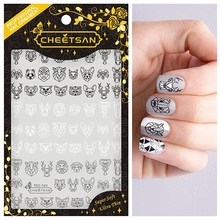 TSC 144 Cheetsan brand CHINA Panda Origami 2018 newest 3d nail art stickers nail decals export