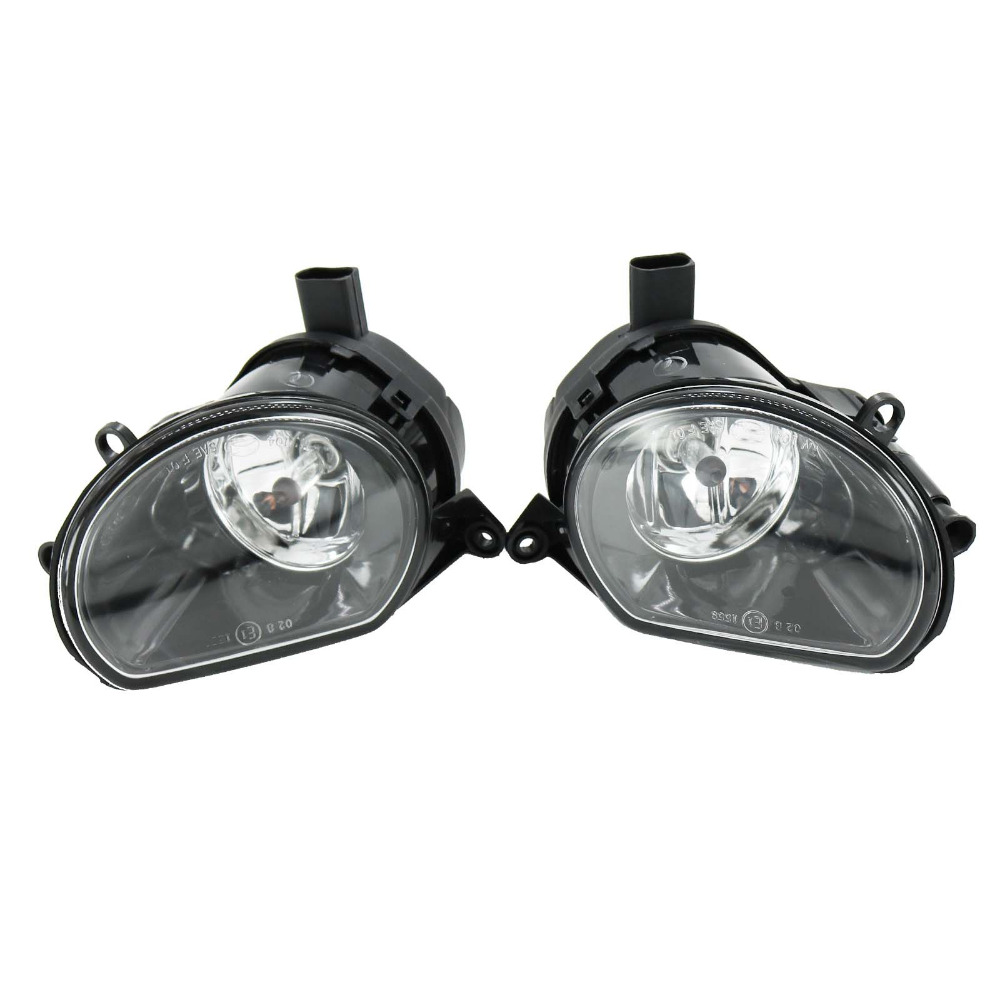 2Pcs For Audi Q7 2006 2007 2008 2009 Car-styling Front Halogen Bumper Fog Lamp Fog Light front fog lights for nissan qashqai 2007 2008 2009 2010 2011 2012 2013 auto bumper lamp h11 halogen car styling light bulb