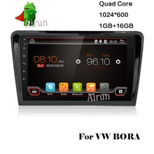 "1024*600 Quad Core 16G 9"" Pure Android 4.4.2 Car DVD Player for VW Bora 2012- GPS Navigation Newest Radio Free Shipping"