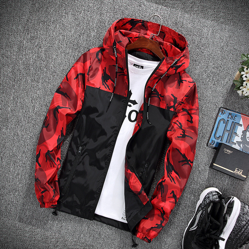HTB1OGrAnVGWBuNjy0Fbq6z4sXXa8 2019 Men's wear casual camouflage jacket. of Slim handsome spring autumn casual solid color large size baseball clothes