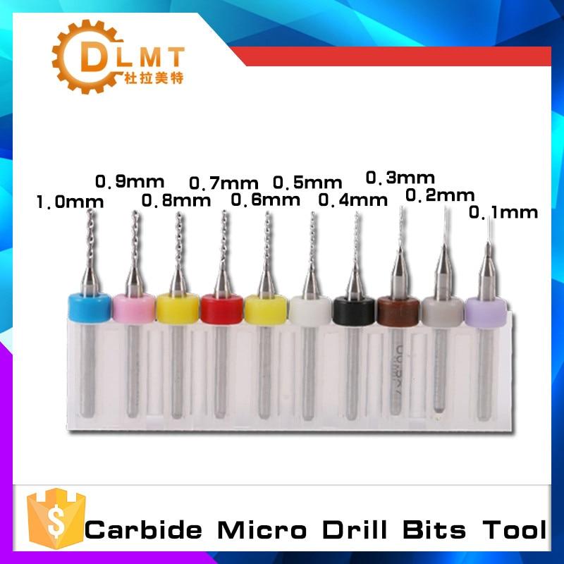 10pcs Each Set  High Quality Hard Alloy PCB 0.1mm-3mm 0.1mm 3mm For SMT CNC Print Circuit Board Carbide Micro Drill Bits Tool