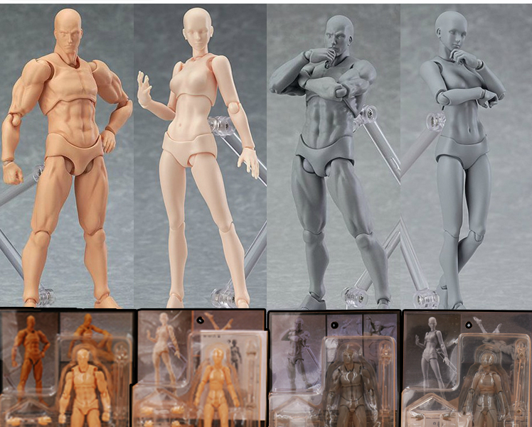 Figuarts BODY KUN / BODY CHAN body-chan body-kun Grey Color Ver. Black PVC Action Figure Collectible Model Toy 8style archetype he archetype she ferrite shfiguarts body kun body chan ver pvc action figure collectible model toy with box