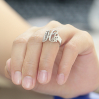 Monogram Customized Ring 3 Initals Name Party Ring Men Personalized Fashion Silver Ring Wholesale