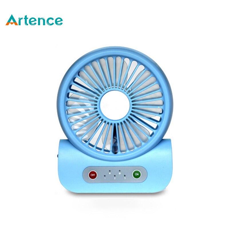 Fans Tragbare Windmühle Usb Aufladbare Mini Fan 3-speed Handheld Fan Desktop Fan