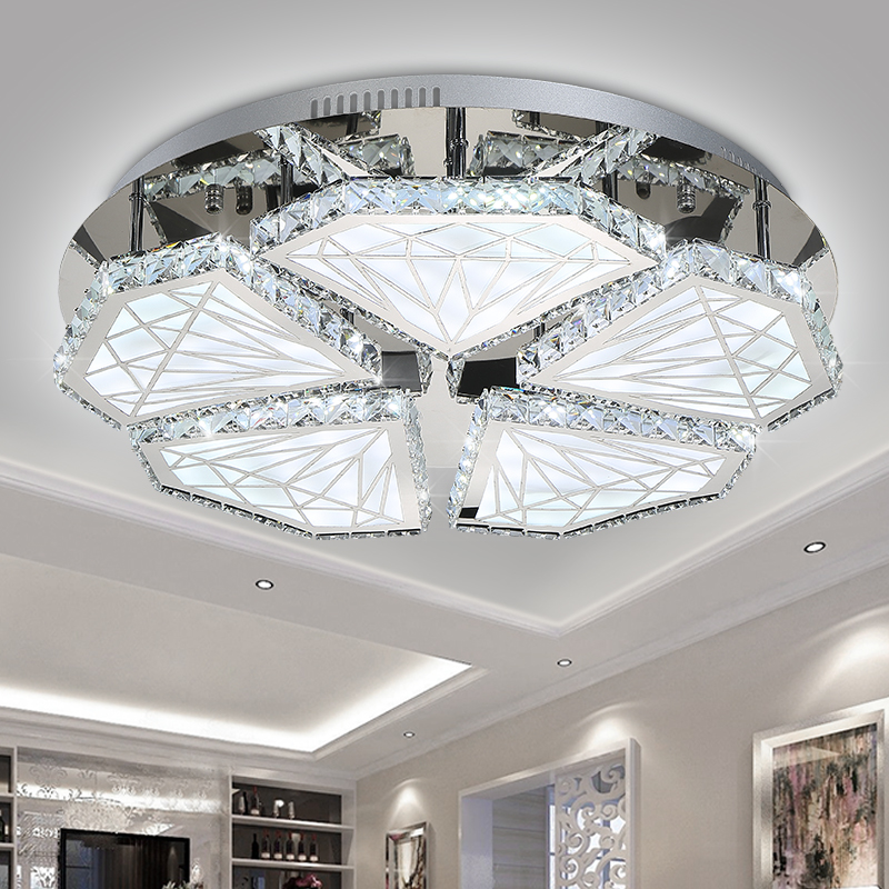 LED100W 300W Acrylic Crystal Round Sitting Room Dining Bedroom Absorb Dome Light 110 240V 9