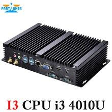 Безвентиляторный промышленный мини-ПК Windows 10 прочный ITX алюминиевый корпус Core i3 4010u HTPC TV Box RS232 WiFi USB VGA