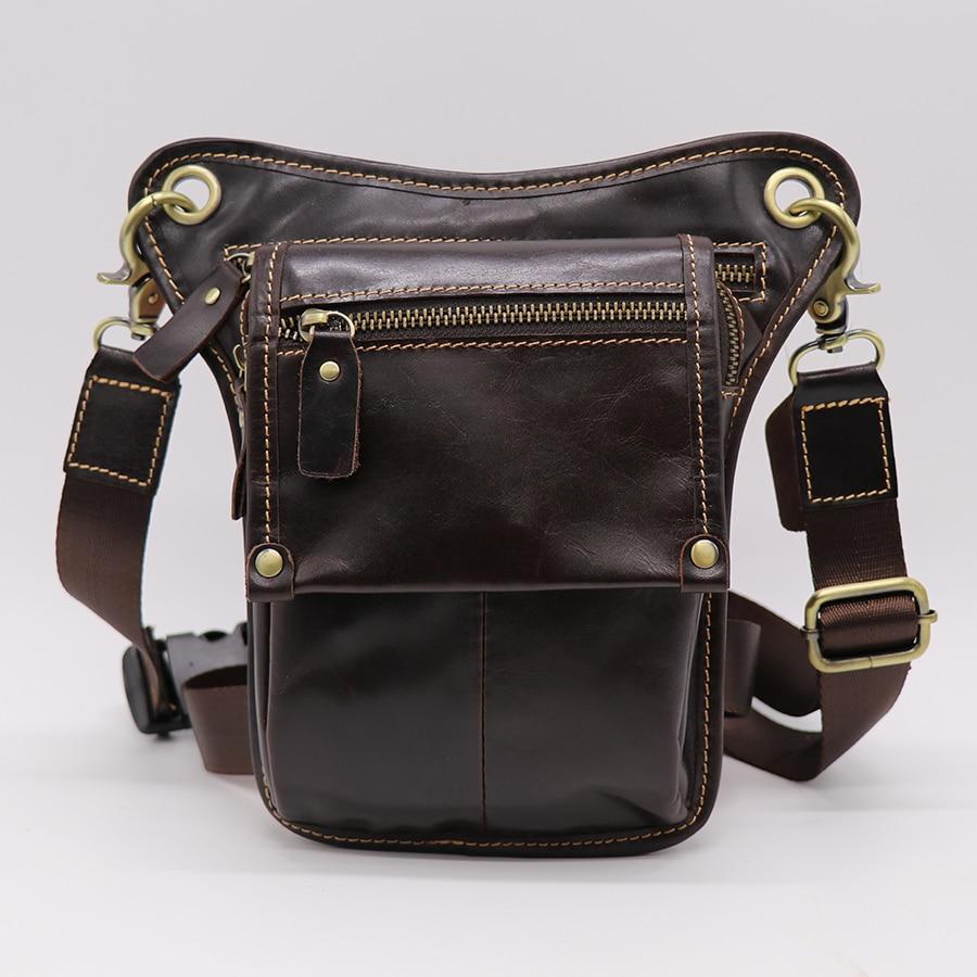 Divat stílus valódi bőr öv táska férfi derék táska láb pouch csomag mobiltelefon kamera megszervezése többfunkciós alkalmi táskák