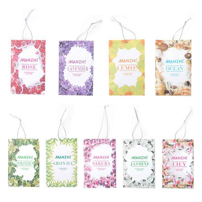 3 Bags Home Fragrance Sachets Natural Flower Tea Sea Wardrobe Aromatherapy Bag Mould & Pest Control Car Odorless Air Freshener