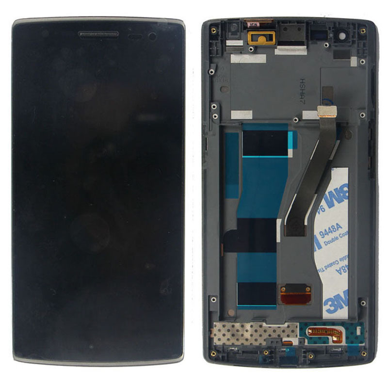OEM LCD display Touch Screen Digitizer With Frame Assembly For Oneplus One 1+ A0001 New Free shipping high quality