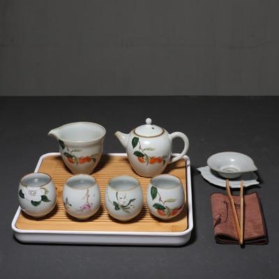 Ensemble de thé en céramique maison moderne Simple plateau de thé japonais ensemble Kung Fu Da Hong Pao vert thé bureau thé cérémonie accessoires