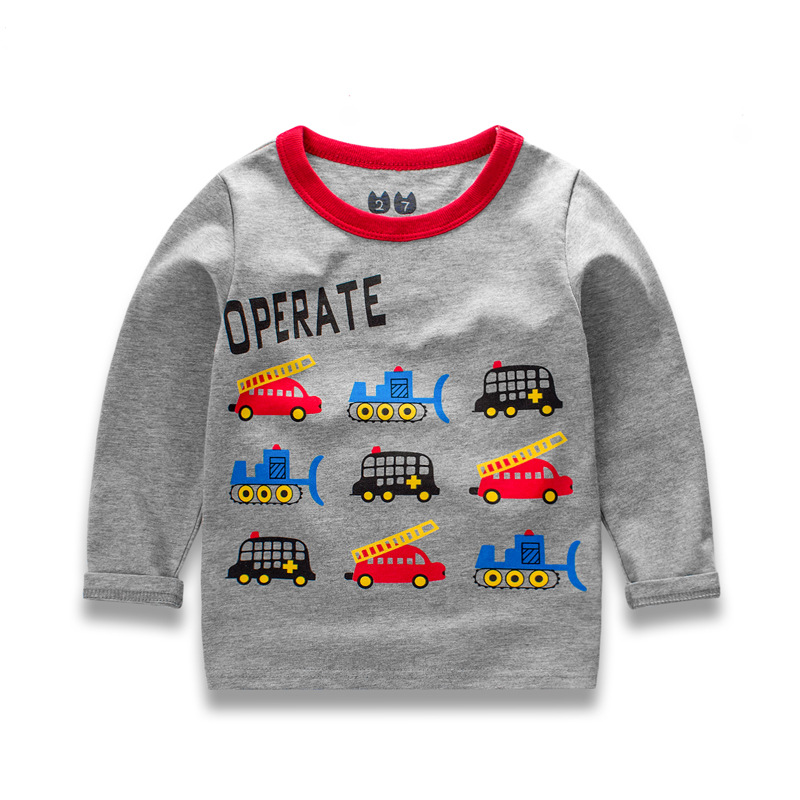 2017 new spring children 39 s cartoon t shirt cotton long for T shirt printing for babies