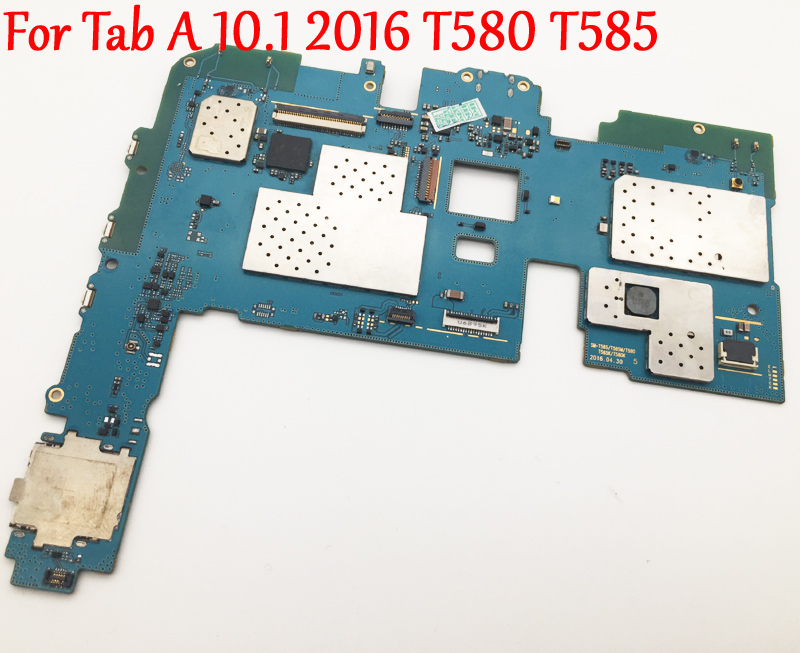 Original Full Work Unlock Motherboard For Samsung Galaxy Tab A 10 1 2016 T580 T585 Logic