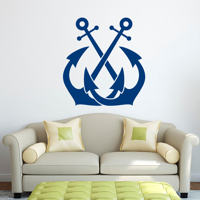 Anchor Wall Decal Sticker Nautical Wall Decor  Sea Ocean Wall Stickers For  Kids Room Boy