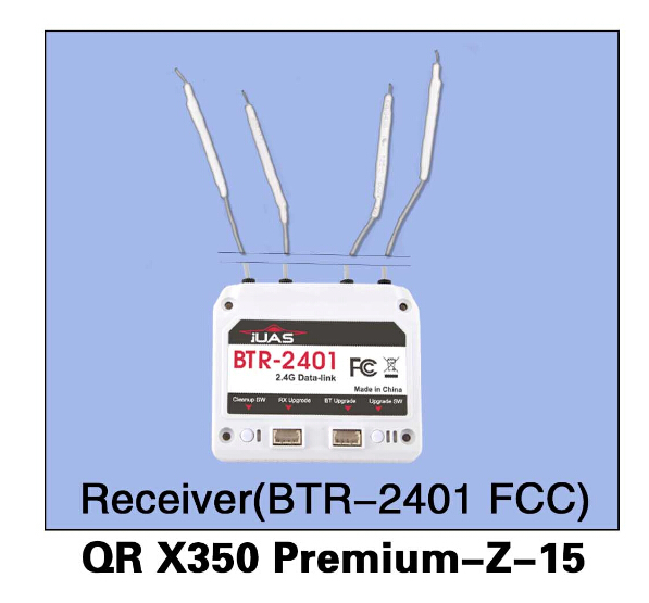 Walkera QR X350 Premium-Z-15 BTR-2401(FCC) Receiver for Walkera QR X350 Premium Helicopter F14441 walkera qr x350 premium z 25 29 6v 3000mah lipo battery for walkera qr x350 premium helicopter f14451