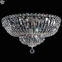 Polished Chrome Crystal Lamps High Quality Chandelier Ceiling Modern Ceiling Fixtures K9030 55cm W X 30cm
