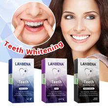 LANBENA Teeth Whitening Strips Oral Hygiene Teeth Veneers White Strips Removes Plaque Stains Tooth Bleaching Dental Tools 7 Pair am 1159фигурка патефон ажурный латунь янтарь