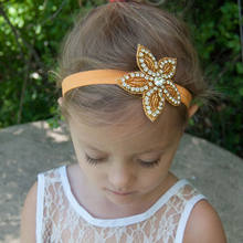 Naturalwell Baby Girl Rhinestone Gold Star Headband Hair Bands Kids Girls Wedding Party Hair Accessories Princess Headwear HB020(China)