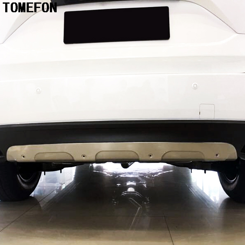 TOMEFON Stainless Steel Accessories Exterior Front & Rear Skid Plate Bumper Board Cover Stiker 2Pcs For Mazda CX 5 CX5 2017 2018