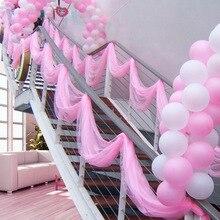 50cmX10meters Organza Ribbon Craft Romantic Wedding Birthday Baby Showe Party Decoration DIY Snow Yarn Gift Packaging