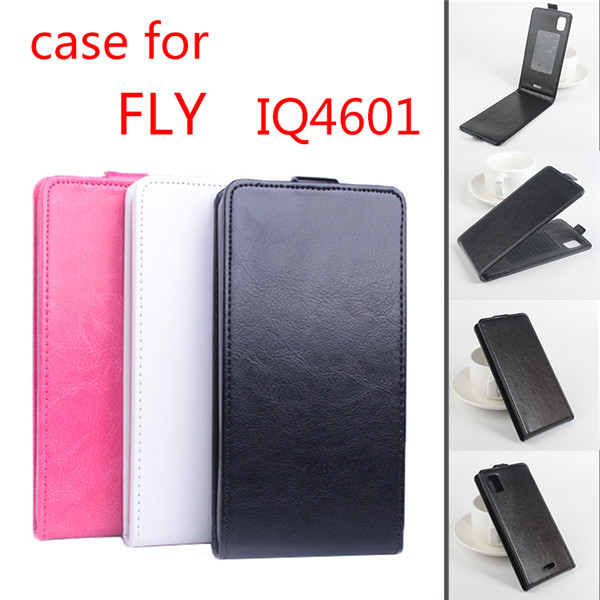 3a72d736fdb 2015 marca de lujo ultra delgado de cuero Flip funda para Fly IQ4601  teléfono protector Shell
