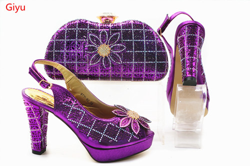 Latest purple African Shoes And Bag Set For Party High Quality Italian Ahoes And Bags To Match Women! SSN1-9Latest purple African Shoes And Bag Set For Party High Quality Italian Ahoes And Bags To Match Women! SSN1-9