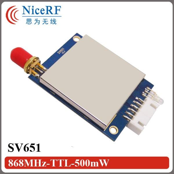 2pcs 27dBm 500mW Si4432 868MHz TTL Wireless Data Transmitter SV651 with shielding case (not including Antenna)