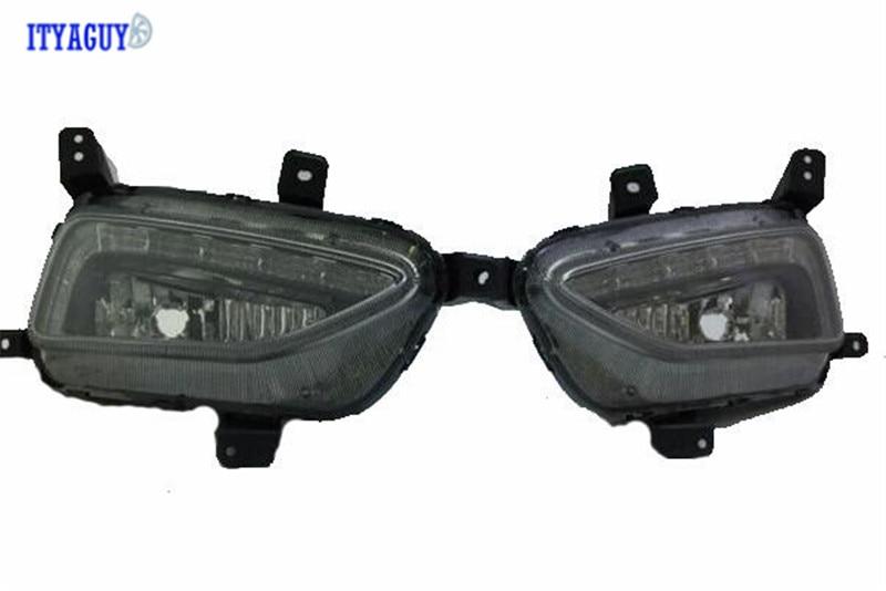 Car Stlying Waterproof 12V LED Daytime Running Light DRL Fog Lamp Decoration For HYUNDAI Tucson 2015 2016 car stlying 12v led daytime running light drl fog lamp decoration for peugeot 508 2012 2013 2014 2015 2016 2pcs