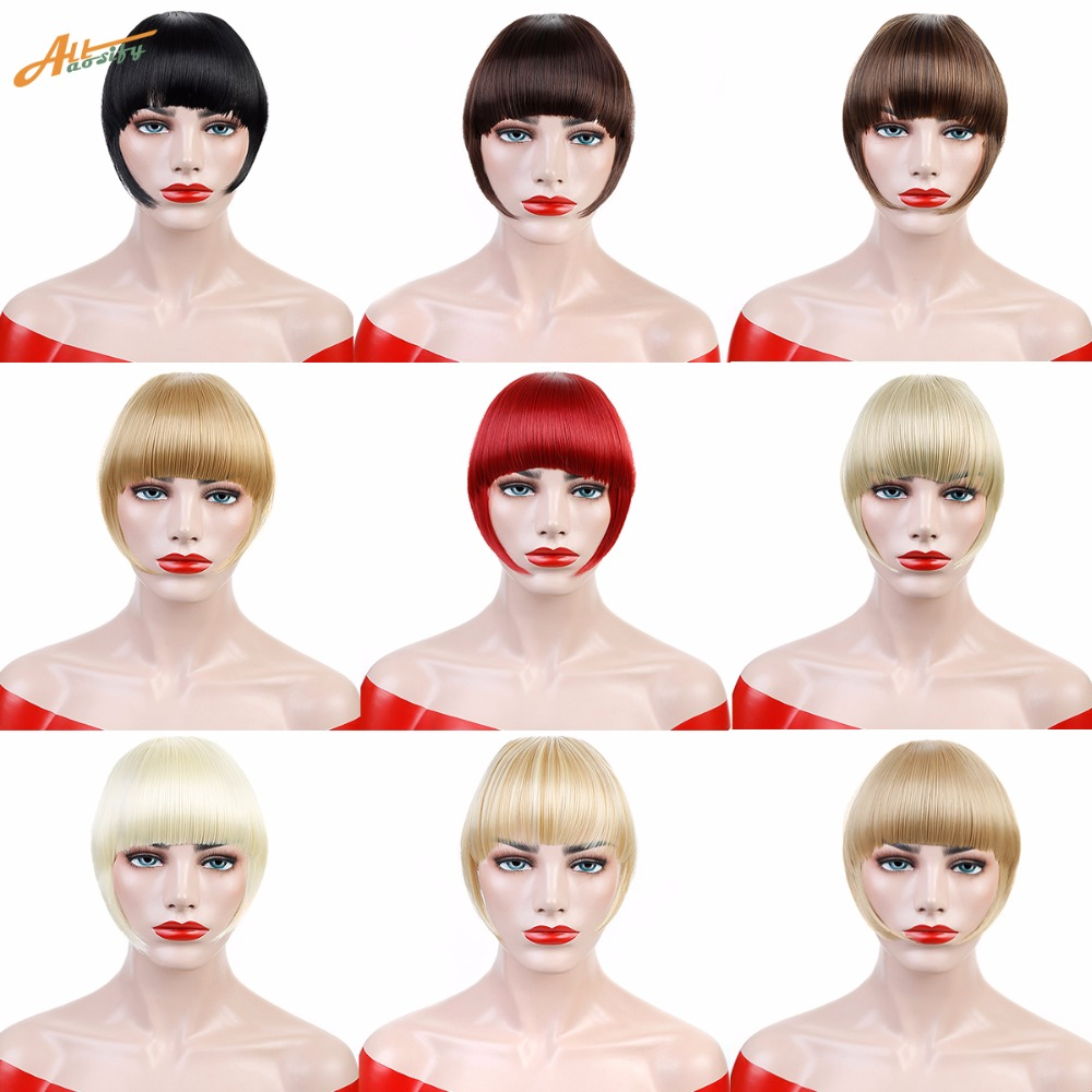 Hair Short Fringe Blonde Clip In Hair Bangs Hairpiece Heat Resistant