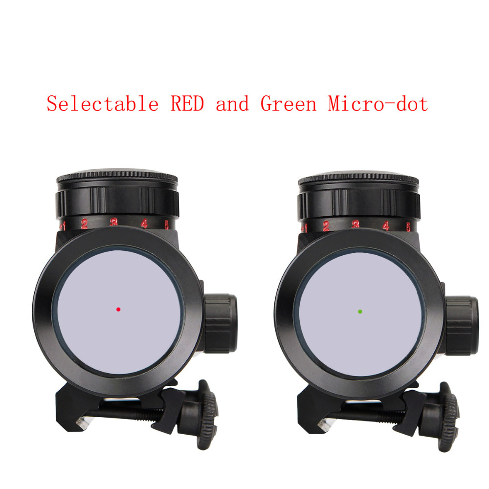 Image 5 - Svbony 1x30mm Sight Tactical Red Green Dot Riflescope Five Brightness Setting Reflex Sight Scope w/ 20mm Rail Mount F9148A-in Riflescopes from Sports & Entertainment