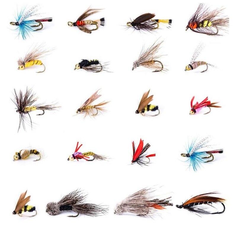 1set 12 5cm 10cm 4cm Fly Fishing Lures Artificial Fishing Bait Feather Hooks Carp Fishing Bait