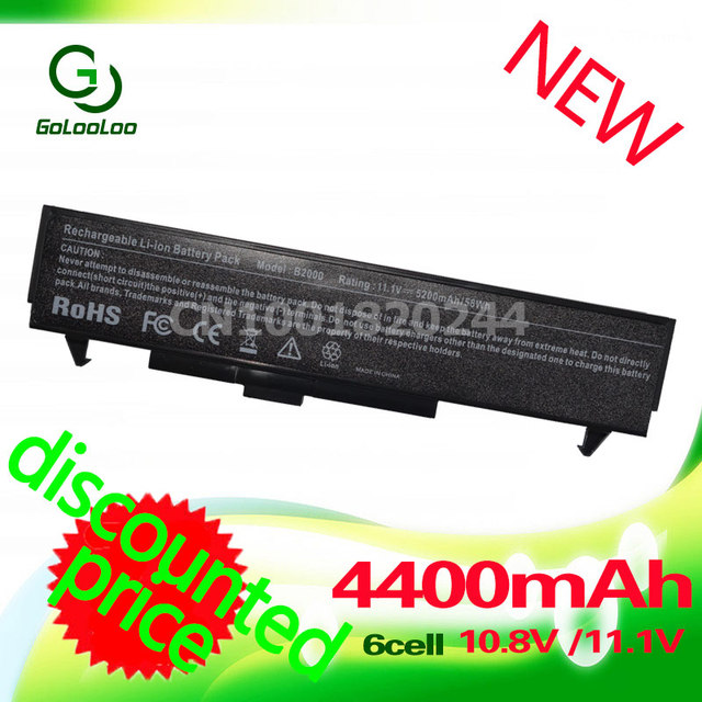 Golooloo 4400mAH battery for LG LE50 LM LM40 LM50 LM60 LM70 LB32111B LB52113D LB52113B LHBA06ANONE LMBA06.AEX For HP B2000 B2026