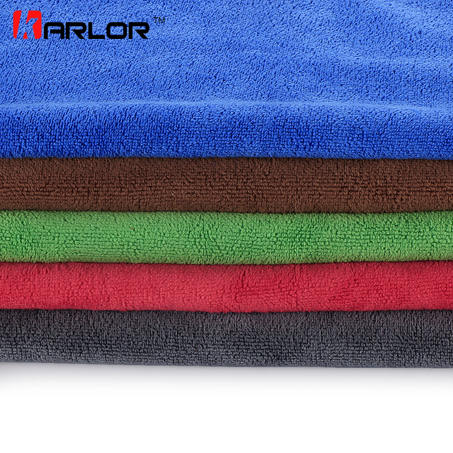 5Pcs/pack Thick Super Absorbent Car Cleaning Drying Cloth Hemming Car Wash Microfiber Towel Auto Kitchen Housework Maintenance