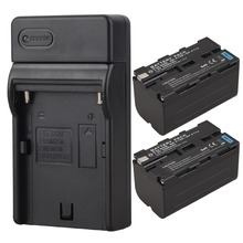 High Capacity 2x 5200mAh NP-F750 NP-F770 Battery + USB Charger For Sony NP-F750 NP-F770 Camera Battery
