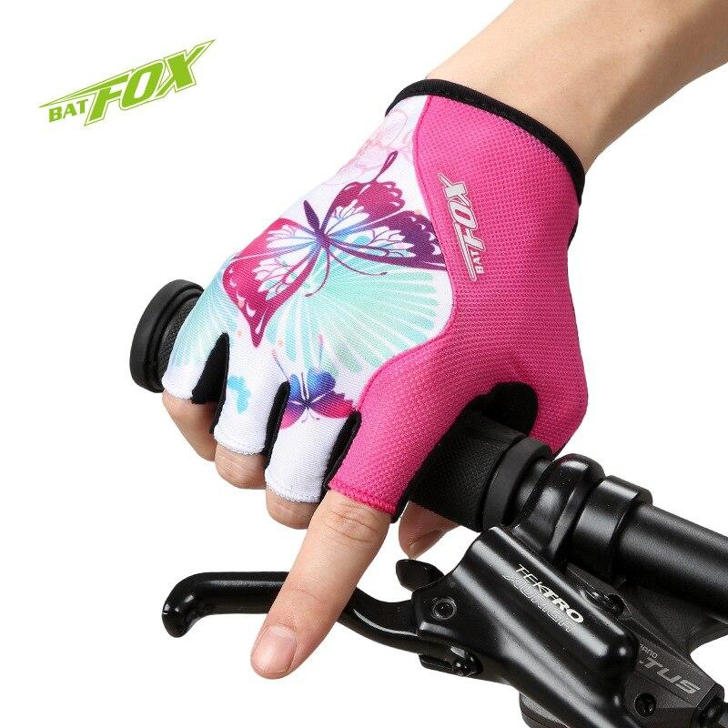 Prix pour BATFOX Vélo Gants Demi Doigt Antichoc Respirant Gym VTT de Montagne Vélo De Route Gants De Vélo Gant Luvas Par Ciclismo Rose
