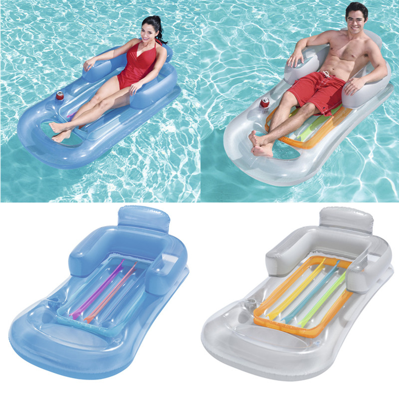 Inflatable Floating Row 157x89cm Beach Swimming Air Mattress Pool Floats Floating Lounge Sleeping Bed For Water Sports Party