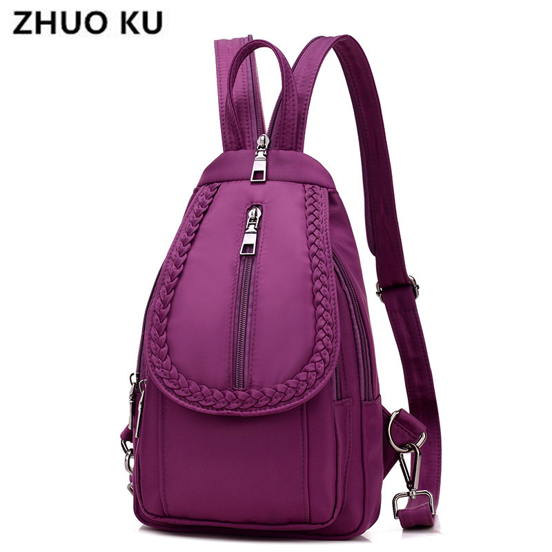 ZHUOKUFashionWaterproof nylon Women Backpack Designer backpacks Shoulder bags High quality Women back pack backpacks for teenage