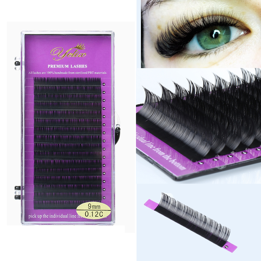 16Rows Faux Mink Individual Eyelashes Soft Shiny Classic Lashes Eyelash Extension Natural Lashes Extension For Professionals