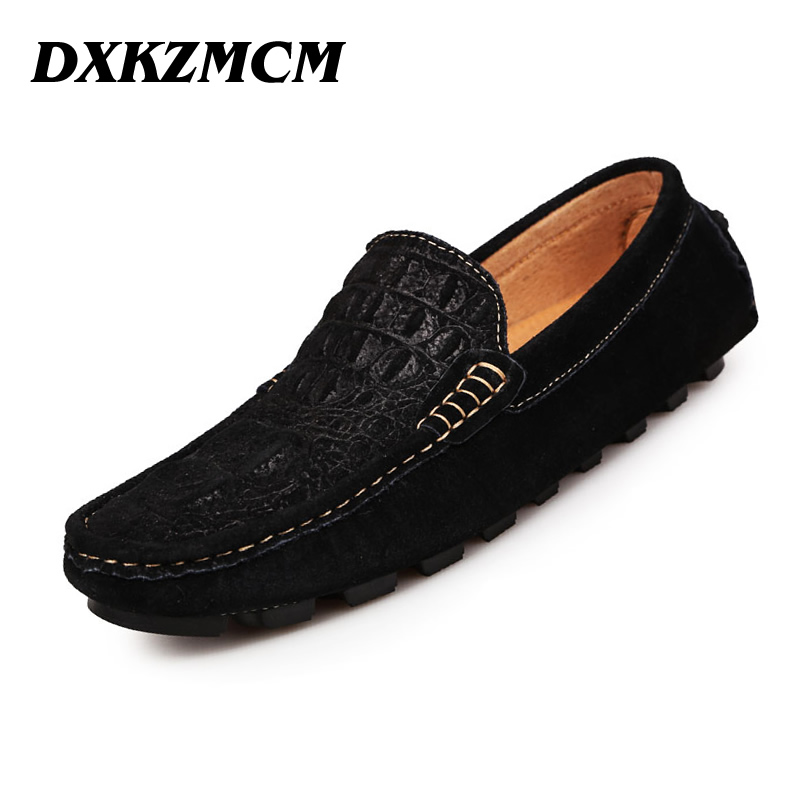 DXKZMCM 100% Genuine Leather Men Shoes, Soft Leather Men Loafers, Mocasines Hombre Brand Men Flats Men driving shoes top brand high quality genuine leather casual men shoes cow suede comfortable loafers soft breathable shoes men flats warm