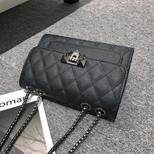 Handbags Women Pattern Metal Chain Messenger Bags Women PU Leather Shoulder Crossbody Bag Female Purse Big Internal Capacity цена 2017