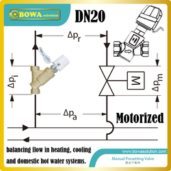 DN20 motorized dynamic balancing Valve mainly for ground source or water source heat pump water heater and air condtioners