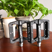 1pair black MTB nylon Pedals Ultralight BMX Bicycle Pedals 3 Bearings Cycling Pedals Mountain Bike Folding Bike Pedals