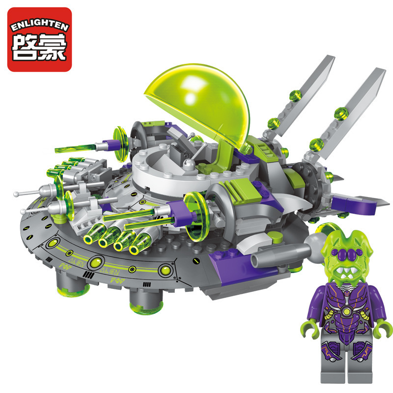 Enlighten Models Building toy Compatible with Lego E1611 339pcs Alien Blocks Toys Hobbies For Boys Girls Model Building Kits