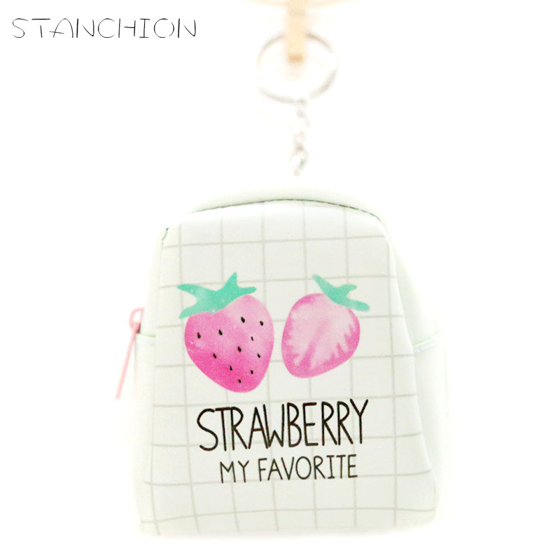 STANCHION Japanese and Korean version of cute sweet mini purse female fashion zipper coin bag card package small fresh purse