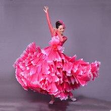 360 градусов испанская коррида танец живота платье юбка длинный халат фламенко юбки для девочек красное фламенко платья для женщин девочек L189